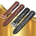 Ремешок для наручных часов из крокодиловой кожи ремешок 18 мм/20 мм/22 мм с воздушным шаром синий ремешок для часов раскладывающаяся застежка и...