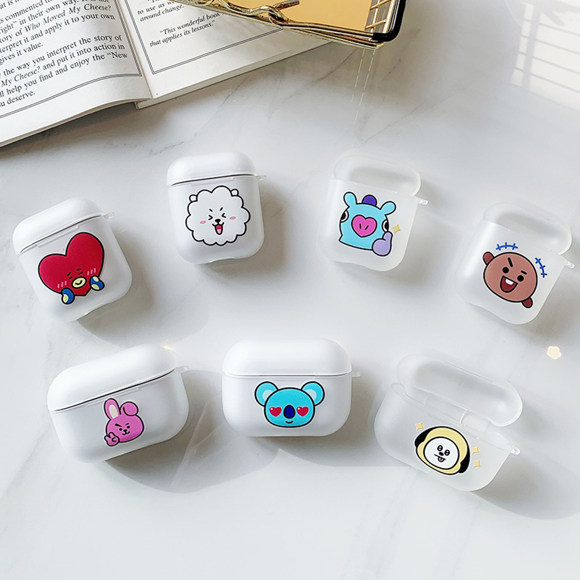 Korea Cartoon BT21 Case For Apple Airpods 1/2/3 Protective Bluetooth Wireless Earphone Cover For Air Pods Pro Charging Box Bags