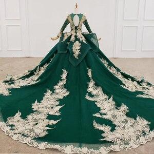 Image 2 - HTL1173 Vestiti da Sera Lunghi Appliques Che Borda Paillette Modello Nappa Lace Up Convenzionale Delle Donne Del Vestito Elegante Abiti De Finalistas