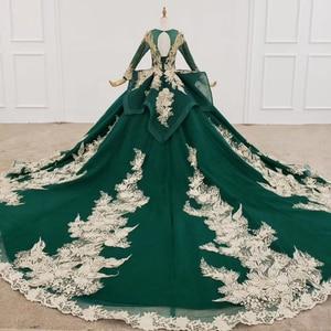 Image 2 - HTL1173 ערב שמלות ארוך אפליקציות ואגלי נצנצים דפוס ציצית תחרה עד פורמליות שמלת נשים אלגנטית vestidos דה finalistas