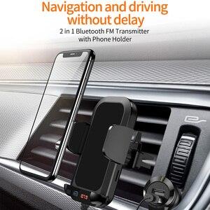 Автомобильный MP3-плеер держатель для телефона Bluetooth приемник fm-передатчик USB Автомобильное зарядное устройство Быстрая зарядка U диск музык...