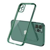 Funda suave transparente de TPU para iPhone, carcasa trasera de protección completa a prueba de golpes para iPhone 7 8 Plus X XR XS Max 11 12 Pro Max 12 mini