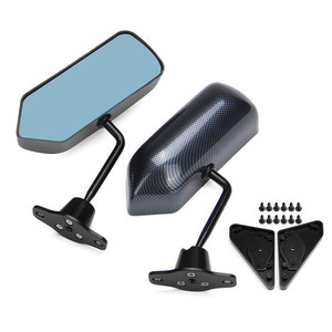 Image 4 - 88 91 Honda CRX F1 Manual de estilo ajustable de fibra de carbono mira lado pintado espejo
