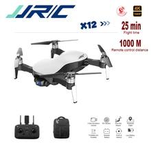 цена на Jjrc Rc Selfie Drone 25 Mins 1000m 5g Wifi Fpv Dual-mode Positioning Anti-shake 3 Axis Gimbal Jjrc X12 4k Drone With Camera Gps
