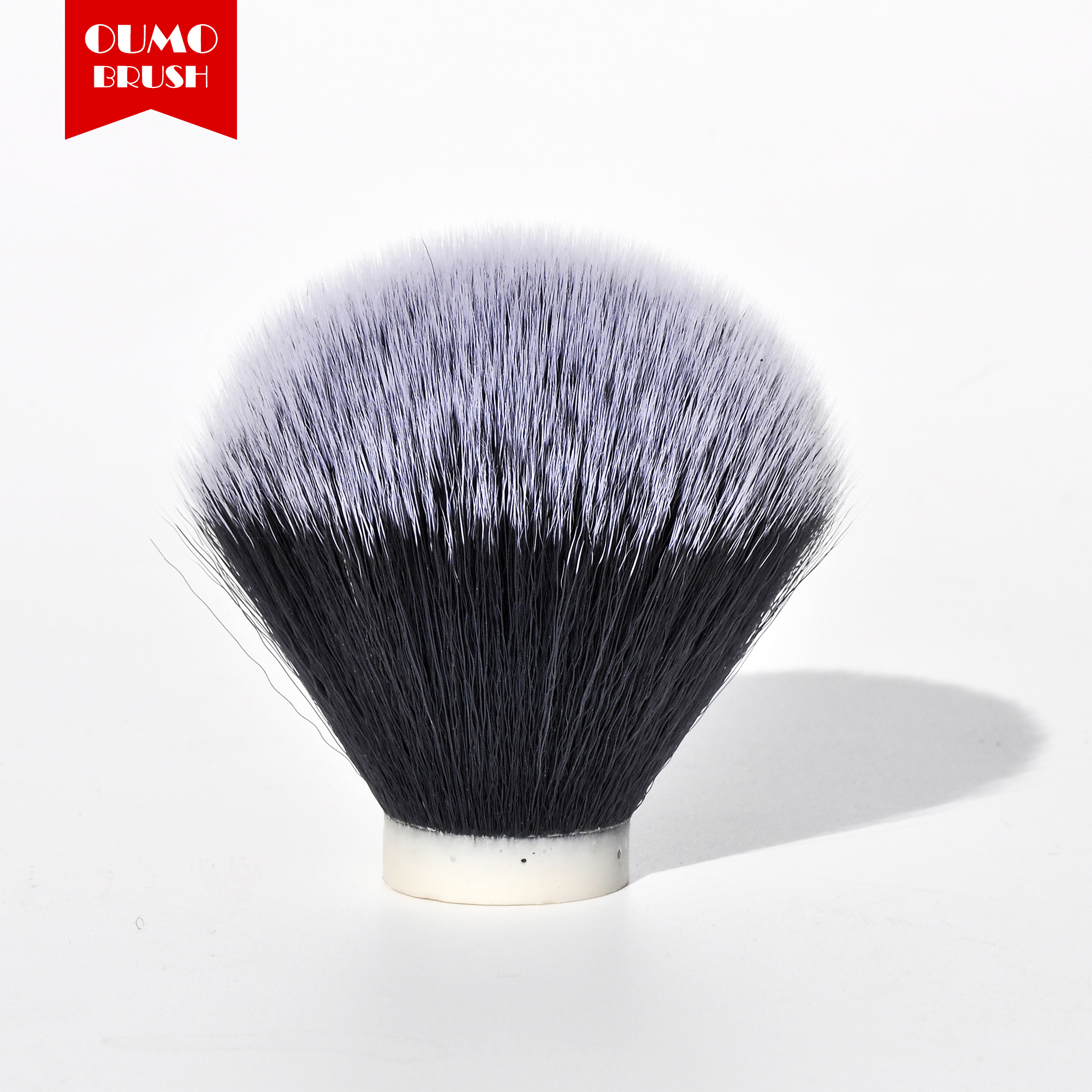 OUMO BRUSH-Tuxedo Synthetic Hair Shaving Brush Knots(thick Hair)