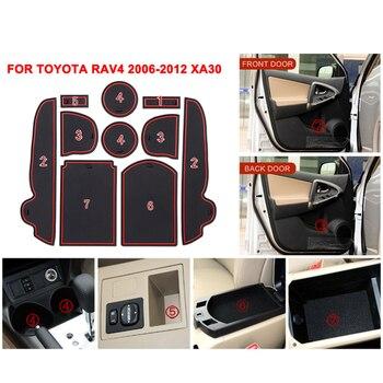 עבור טויוטה RAV4 2006-2012 xa30 אנטי להחליק חריץ שער מחצלת גומי רכבת אביזרי עבור RAV 4 2006 2007 2008 2009 2010 2011 2012