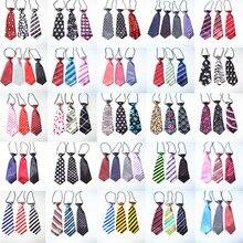 100 PC/Lot rayures grand chien cravates pour grands chiens cravates nœuds papillon chien toilettage accessoires fournitures pour animaux de compagnie