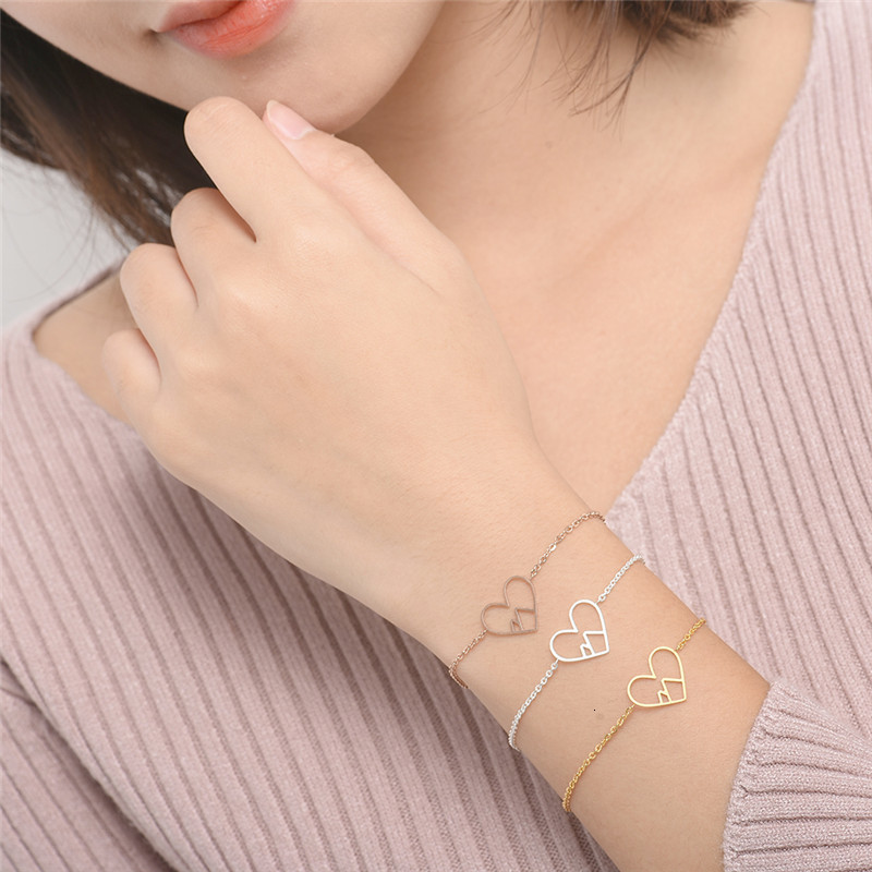 Rose-Gold-Mountain-Heart-Bracelets-For-Women-Hiking-Ski-Nature-Yoga-Love-Jewelry-Stainless-Steel-Charm (2)