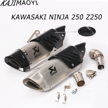 KAJIMAOYI Exhaust System Slip On Muffler Pipe Link middle Pipe Escape Slip-On For Kawasaki Ninja 300 250R Z300 250 2008-2017