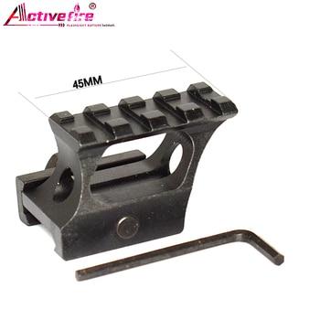 Activefire pistola de aire montaje alcance 1x punto rojo mira alcance aumento adaptador picatinny montaje TAN caza disparo