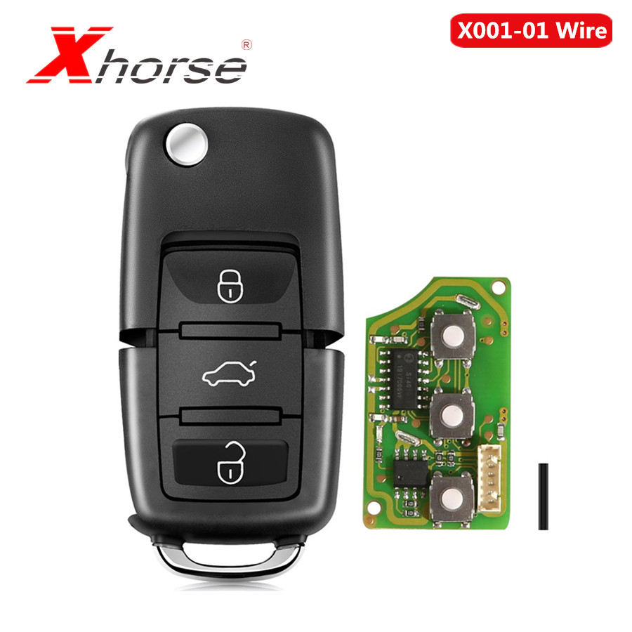 Xhorse XKB501EN Type For Volkswagen B5 Style Remote Key 3 Buttons Board Wire Remote Key 10pcs/lot