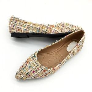 Image 3 - Lente Herfst Vrouwen Ballet Flats Schoenen Voor Vrouw Casual Loafers Enkele Schoenen Dame Zachte Werk Draving Schoeisel Zapatos Mujer