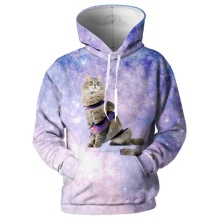 Cloudstyle New Animal Hoodies Men Women Cat Sweatshirts Cute Purple Hooded Pullovers Funny Streetwear Asian size 5XL