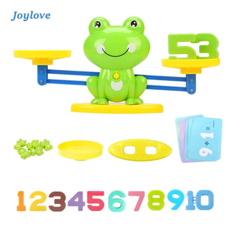 JOYLOVE Math Match Game Board Toys Monkey Balance - Amusant Cat Match Scale Number Balance Game Kids Educational Toy