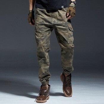 Fashion Streetwear Men Jeans Multi Pockets Casual Cargo Pants Camouflage Military Style Slack Bottom Hip Hop Joggers Pants Men fashion streetwear men joggers pants casual loose fit slack bottom camouflage military big pocket cargo pants men hip hop pants