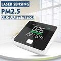 Pm2.5 monitor de qualidade do ar analisador de gás digital sensor de trabalho a laser detector de ar em casa display led temp e equipamentos de teste de umidade