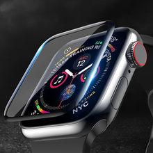 Protetor de tela capa para apple assistir série 6 5 4 3 se 44mm 40mm 42mm/38mm iwatch filme de vidro macio para apple assistir acessórios