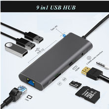 HUB Type C USB 3.0 With HDMI RJ45 PD Charge SD TF Card Reader USB-C Hub Type-C Plitter For Macbook Pro Laptop Accessories Multi 3 ports usb c hub type c splitter with tf card reader for macbook pro imac pc laptop notebook accessories usb c hub