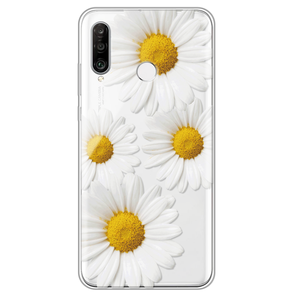 Daisy Flower Clear Case For Huawei P40 Lite P30 P20 P10 P9 P8 Lite Pro P Smart Z Plus 2019 2017 Floral Love Heart Silicone Cover