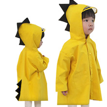Baby Raincoat Poncho Impermeable Waterproof Yellow Children Girls Outdoor Dinosaur Cute