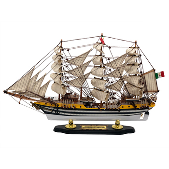 Luckk Hot Sale 3D Wooden Assembled Sailboat Luxury Sailboat Model For Home Decoration MEXICO Sailboat Ship Toys Gift LK-5204