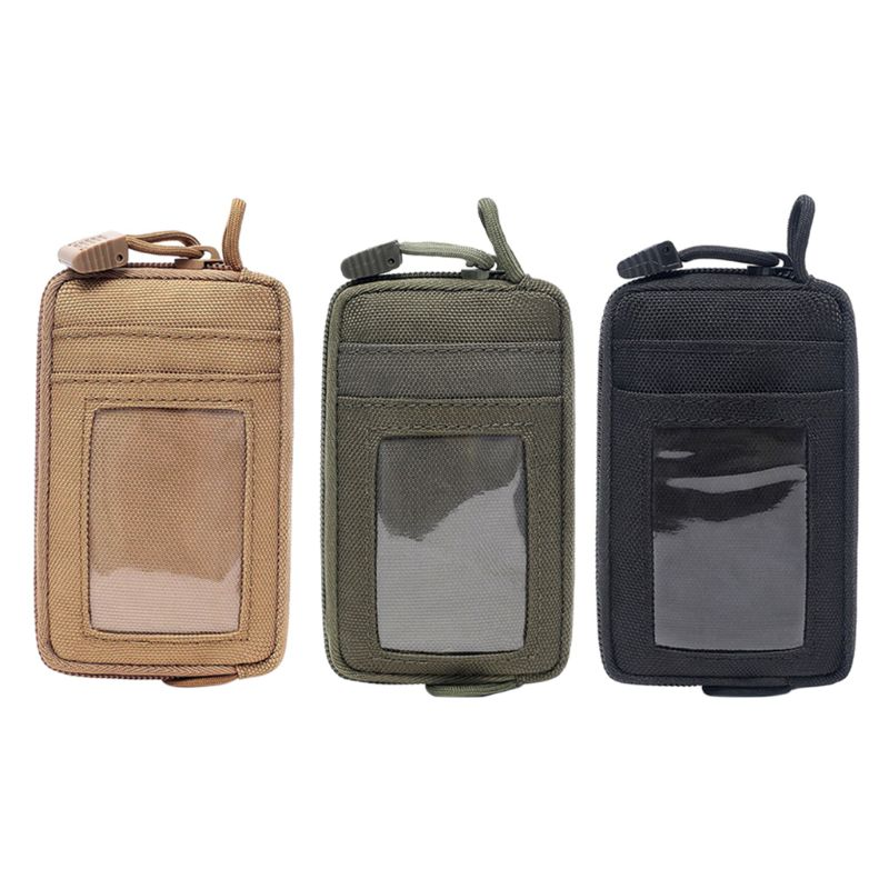 Travel Wallet Card Bag Tactical EDC Pouch Camping Hiking Waterproof Waist Bag Hunting Key Case