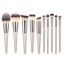10Pcs/9Pcs Flazea Make Up Tools Makeup Brushes Set Professional Make Up Brushes Set Facial Eyes Makeup Brushes Makeup kit 6pcs ombre mermaid tail facial makeup brushes
