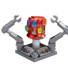 Одиночная Marvel Мстители эндмейд Железный человек Бесконечность гаунтлет Капитан Америка Тор строительные блоки фигурка игрушки для детей