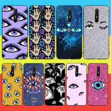 цена на NBDRUICAI Gold foil evil eye Soft Silicone Black Phone Case For Oppo A5 A9 2020 A11x A71 A73S A1K A83 case