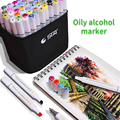 36/48/60/80Colors Alchohol Markers Standard Manga Drawing Marker Alcohol Based Sketch Felt-Tip Twin Brush Pen Art Supplies