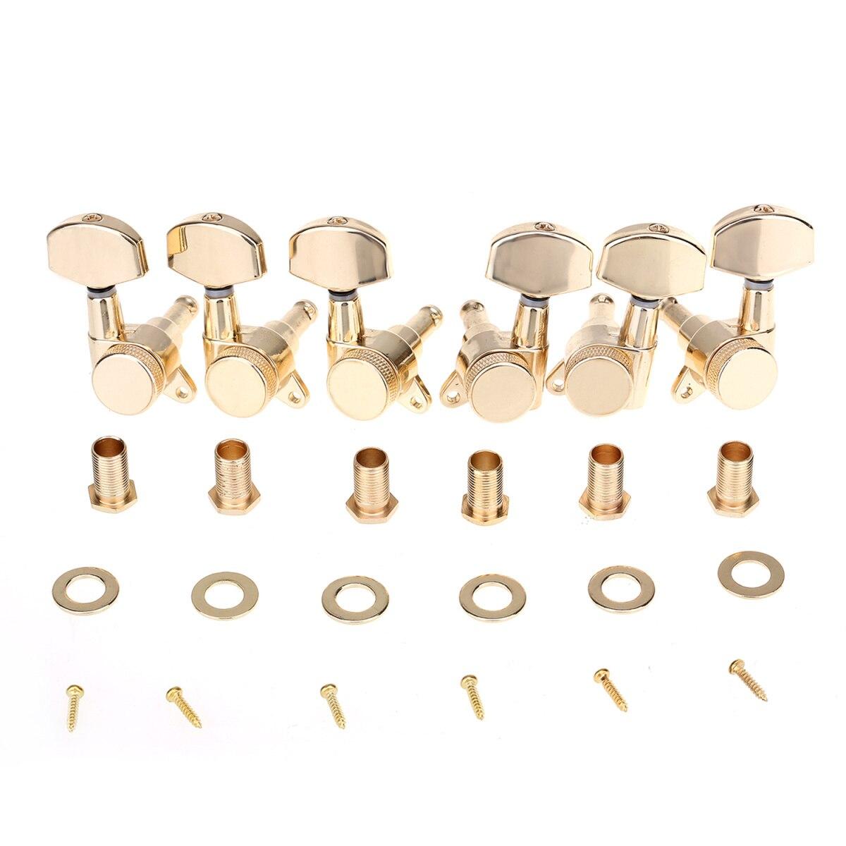 Musiclily Pro 3R3L accordeurs de verrouillage de guitare têtes de Machine réglage chevilles jeu de clés pour guitare électrique ou acoustique, or