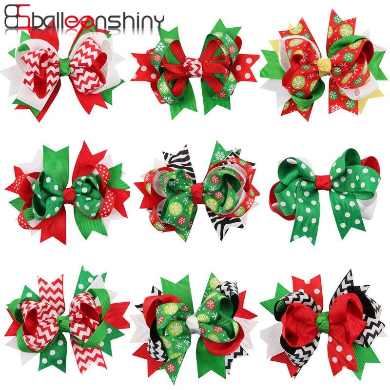 BalleenShiny Swallowtail Bow Christmas Gift For Kids Hair Clip Korean Version Of Children's Hair Pins Baby Girl Hair Accessories