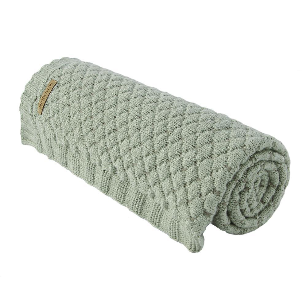 Baby Blankets Knitted Super Soft Newborn Infant Swaddle Wrap Stroller Blanket 100*80CM Toddler Kid Stuff For Month Bedding Cover