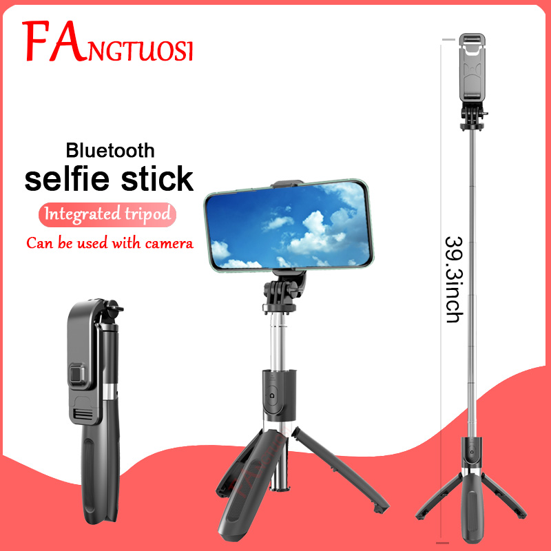 FANGTUOSI Upgraded version Wireless Bluetooth Selfie Stick with Tripod Extendable Foldable Monopod For iphone 11 Action Camera|Selfie Sticks|   - AliExpress