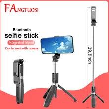 Fangtuosi versão atualizada sem fio bluetooth selfie vara com tripé extensível dobrável monopé para iphone 11 câmera de ação
