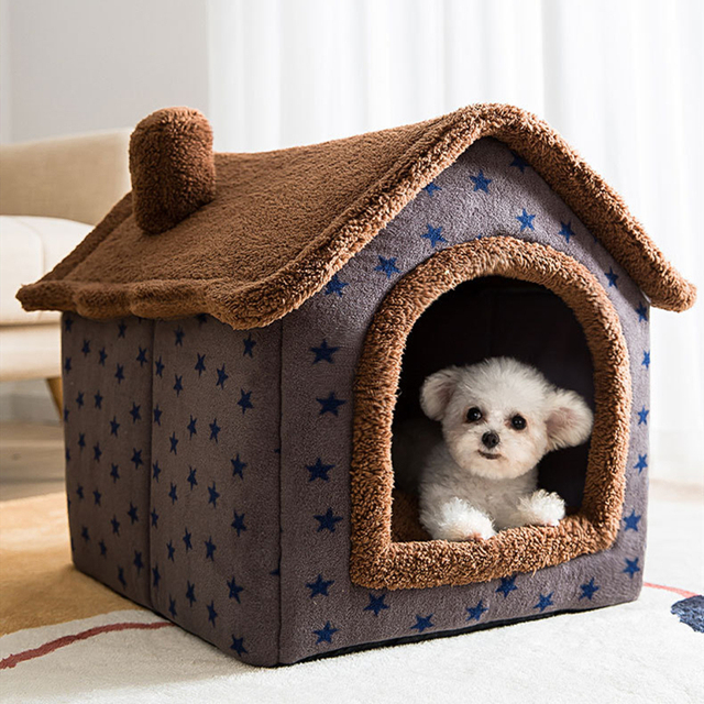 Removable Cat Bed House Kennel Nest Pet Nest Cat Tent Dog Bed Warm Dog House Cushion Sofa Bed Pet Products Cat House Pet Bed 6