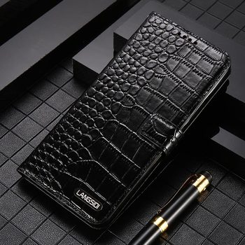Genuine Leather Card Slot Holder Strap Phone Flip Case for Huawei P40 P30 Lite P30 Pro Mate 20 P20 Cover For Honor 20 Pro 10 8X