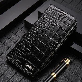 Oryginalne skórzana kieszeń na karty pasek mocujący etui na telefon z klapką do Huawei P40 P30 Lite P30 Pro Mate 20 P20 pokrywa dla Honor 20 Pro 10 8X Nova 5t Mate 20 lite P10 Lite P20 Lite P20 Pro P SMART 2019 Y9 Y7