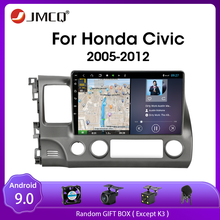 JMCQ Android 9.0 For Honda Civic 2005-2012  Car Radio navigation player GPS Multimedia 2Din DVD player audio stereo Split Screen