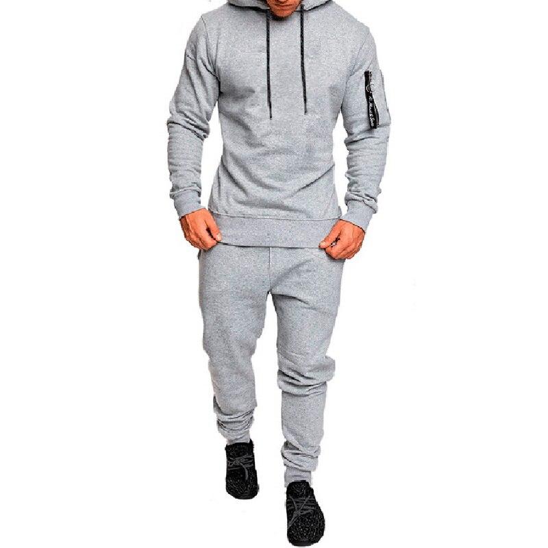 DIHOPE Military Print Men  Sportwear Sweatshirt Tracksuit Hoodies Casual Running Set Pullover Outwear 2PC Jacket+Pant Suit