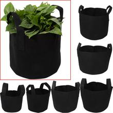 1 2 3 5 7 gallon green plant grow bag non woven fabric vegetable trees flower container cup nursery garden supplies flowerpot 1/2/3/5/7/10 Gallon Garden Tools Plant Grow Bags Vegetable Flower Pot Planter DIY Potato Garden Pot Plant Eco-Friendly Grow Bag