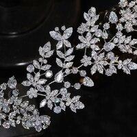 Asnora luxury bridal tiara high qu