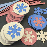 Japan Steel Blade Rule Die Cut Steel Punch Snowflake Cup Pad Mat Cutting Mold Wood Dies for Leather Cutter for Leather Crafts