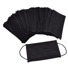 5pcs-100pcs High-quality Non-Woven Fabric Meltblown Cloth Adult Disposable Black Mask Filter Face Mask Black Masks