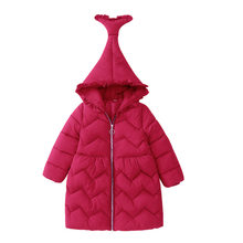 New Arrival Girls Winter Outerwear Coats Lace Hooded Down Parkas Warm Down Jacket 2019 Thicken Cotton-Padded Long Clothes Coat цены онлайн