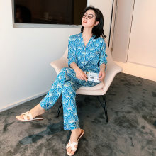 2010 New Pijama Mujer Autumn Winter Pajamas Woman Lovely Leisure Two Piece Set Printing Indoor Clothing Home Suit Sleepwear(China)