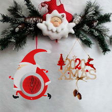 Christmas Tree decoration Hanging decor Reindeer Santa Claus Christmas-tree Pendant Gift for guests Decor home Xmas New Year