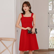 Yigelila летнее Новое поступление красное платье с квадратным