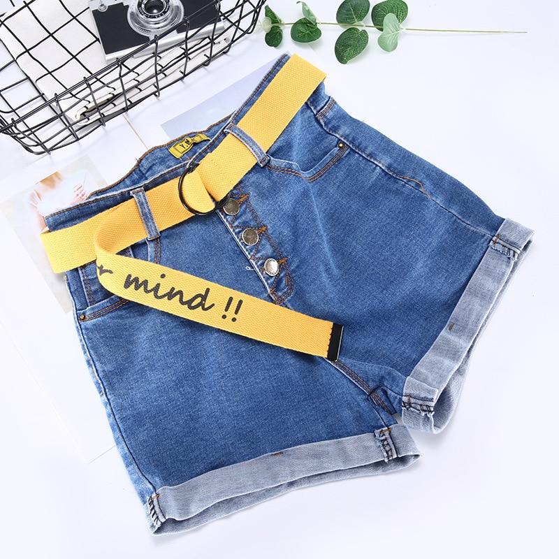 TagerWilen ремень стиль буквы напечатаны мода унисекс двойное D Кольцо холст ремень длинные джинсы ремни для женщин брезентовый мужской ремень - Цвет: Never-Yellow