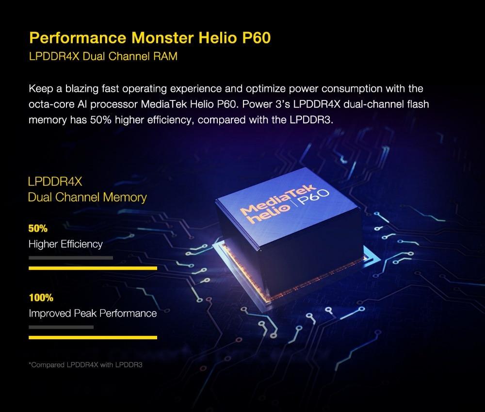 "H58c367ef19b34f84b896a81b9fc19288g UMIDIGI Power 3 Android 10 48MP Quad AI Camera 6150mAh 6.53"" FHD+ 4GB 64GB Helio P60 Global Version Smartphone NFC Pre-sale"